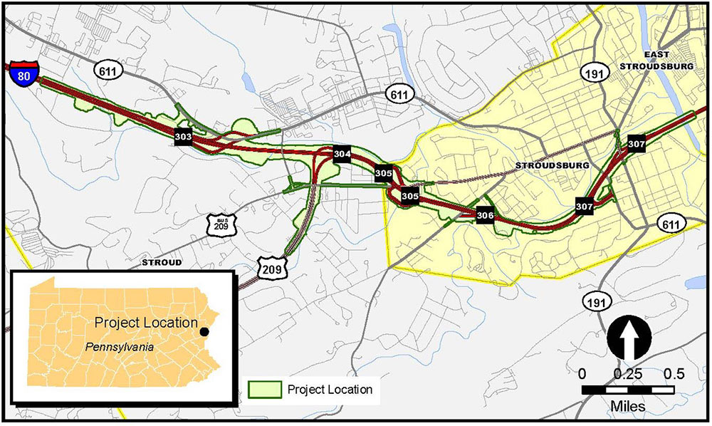 I-80 Exit 308 Interchange in East Stroudsburg | I-80